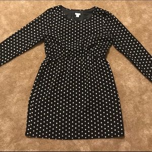 JCrew Factory polka dot dress with 3/4 sleeves